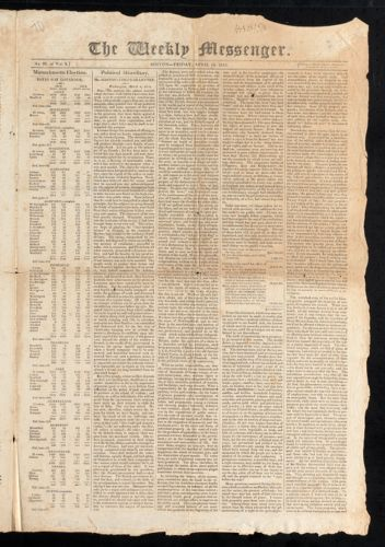 The Weekly Messenger, April 14, 1815
