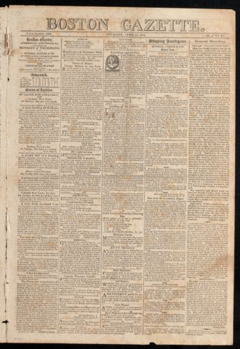 Boston Gazette, April 13, 1815