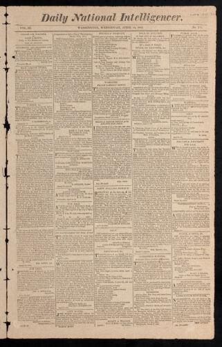 Daily National Intelligencer, April 12, 1815