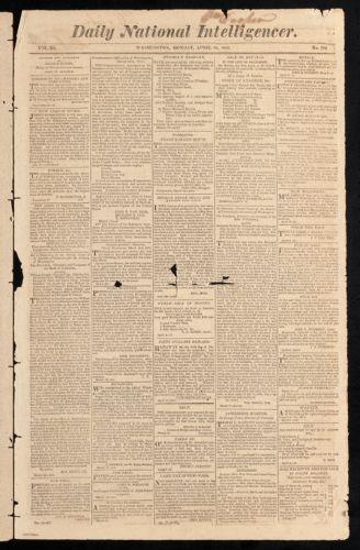 Daily National Intelligencer, April 10, 1815