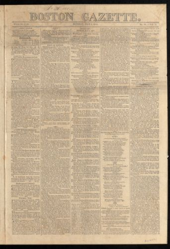 Boston Gazette, May 3, 1813