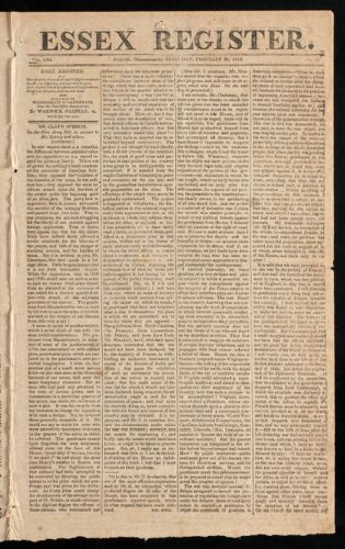 Essex Register, February 20, 1813