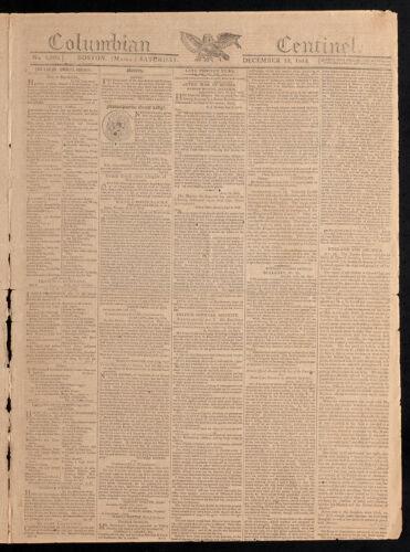 Columbian Centinel, December 12, 1812