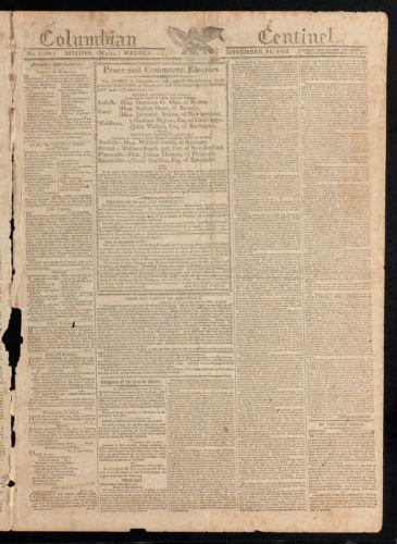 Columbian Centinel, November 11, 1812