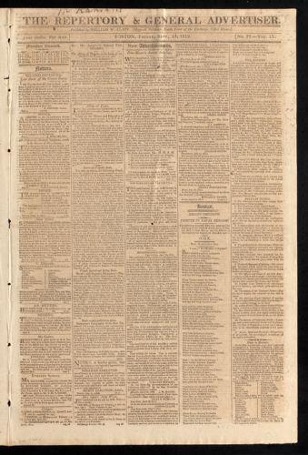 The Repertory & General Advertiser, September 11, 1812
