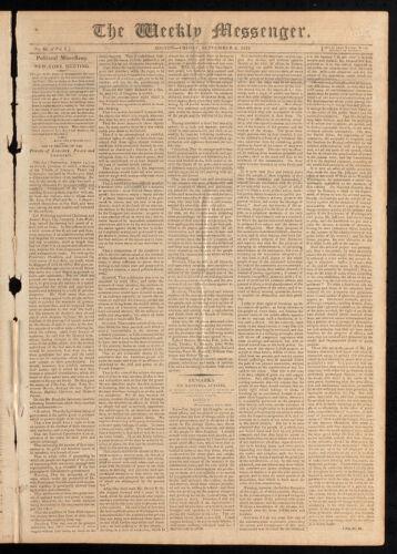 The Weekly Messenger, September 4, 1812