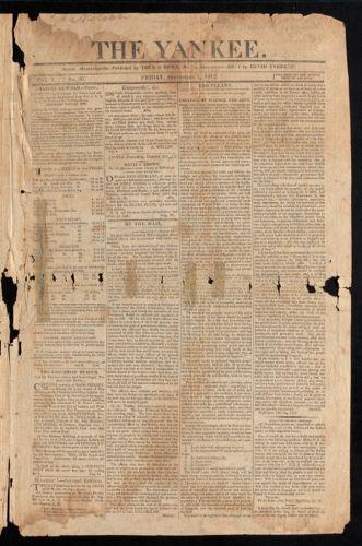 The Yankee, September 4, 1812
