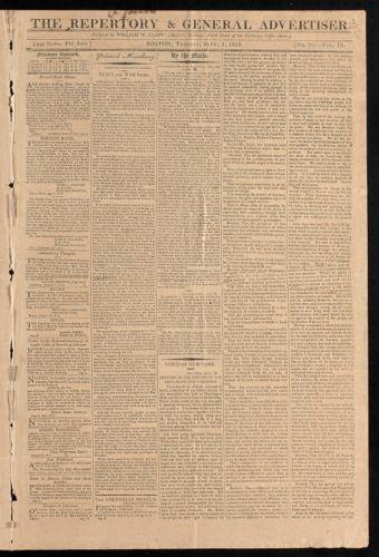 The Reportory & General Advertiser, September 1, 1812