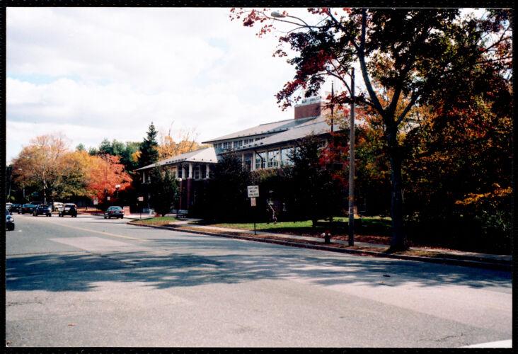 Newton Free Library, 330 Homer St., Newton, MA. Homer St. side