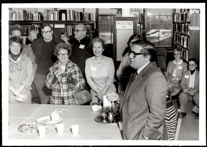 Newton Free Library, Newton, MA. Programs, patrons, staff. Artists & authors