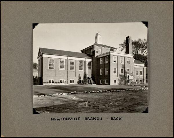 Newton Free Library, Newton, MA. Oversize photos. Newtonville Branch - rear