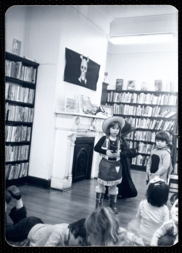 Newton Free Library, Newton, MA. Junior Library. Story hour - Halloween