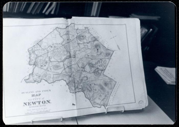 Newton Free Library, Newton, MA. Staff & trustees. Atlas - city map