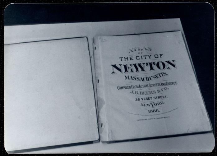 Newton Free Library, Newton, MA. Staff & trustees. Atlas - 1886