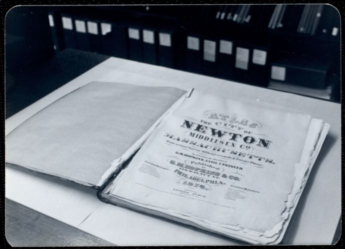 Newton Free Library, Newton, MA. Staff & trustees. Atlas - 187-