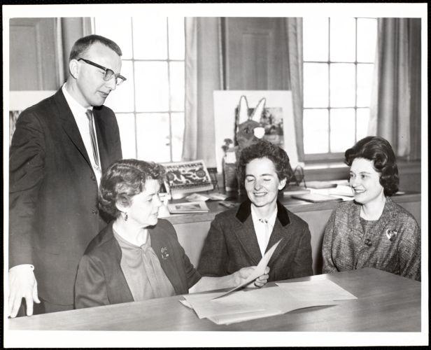 Newton Free Library, Newton, MA. Staff & trustees. 3 women