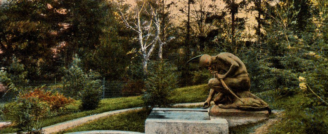 The fountain, Robbins Memorial Garden, Arlington, Mass.