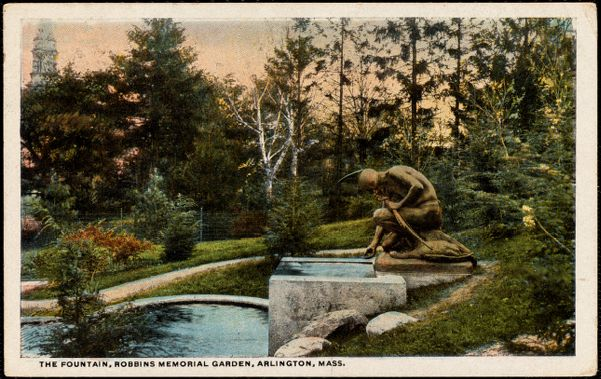 The fountain, Robbins Memorial Garden, Arlington, Mass.