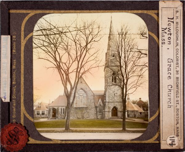 Newton photographs collection, lantern slides - Grace Church, Newton, Mass -