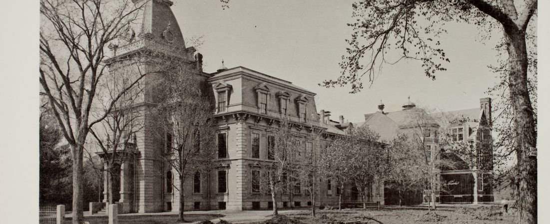 """Newton Illustrated - Twenty-eight illustrations of the streets, public buildings and general view of """"The Garden City"""" - High School Building, Newtonville -"""