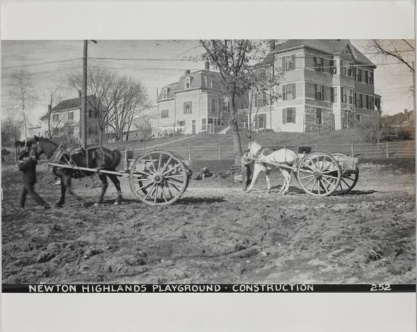 Newton Forestry Department Photographs, 1908-1918 - Newton Highlands Playground - Construction -