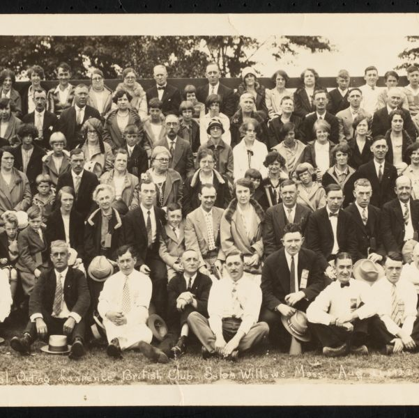 Annual outing, Lawrence British Club, Salem Willows, Mass., Aug. 21, 1927