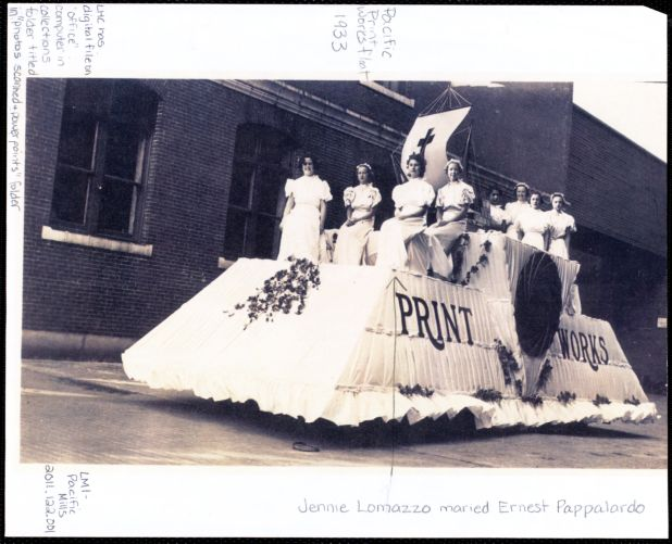 Pacific print works float 1933