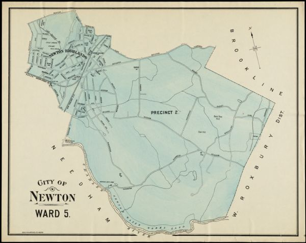 City of Newton, Ward 5, Precinct 2, 1906 [Newton Highlands]