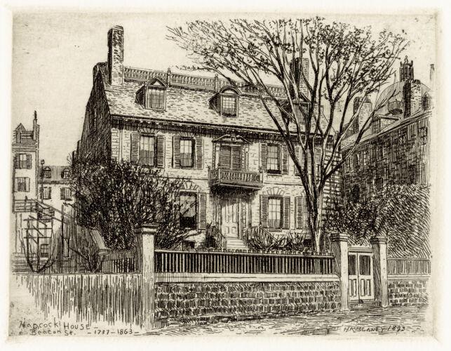 Hancock House - Beacon St. - 1737-1863