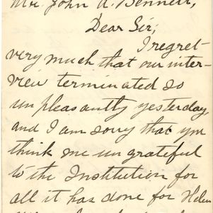 Sullivan / Keller / Anagnos correspondence, 1886-1895