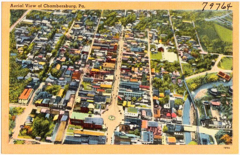 Aerial view of Chambersburg, Pa.