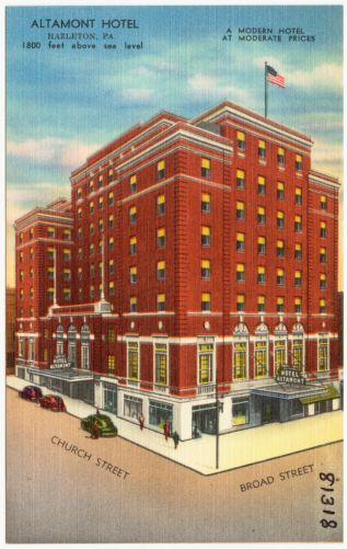 Altamont Hotel, Hazelton, Pa., 1800 feet above sea level