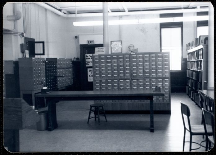 Main library, Junior Library, and branches. Newton, MA. Card catalog