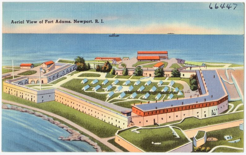 Aerial view of Fort Adams, Newport, R.I.