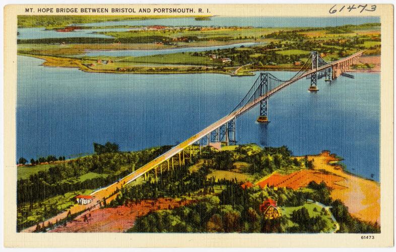Mt. Hope Bridge between Bristol and Portsmouth, R.I.
