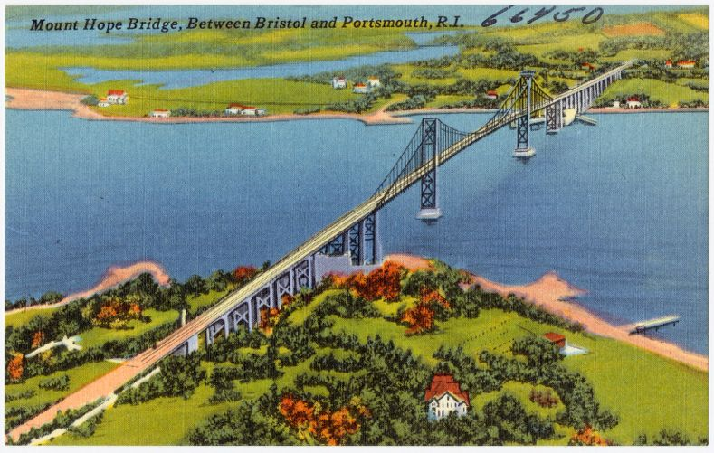 Mount Hope Bridge between Bristol and Portsmouth, R.I.