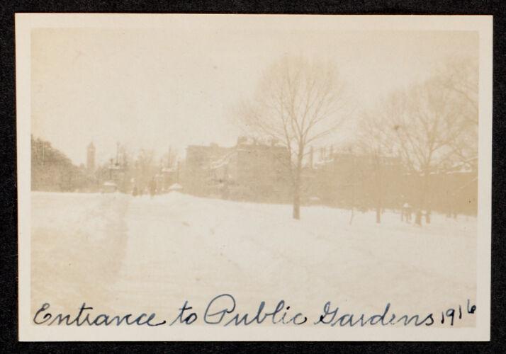 Entrance to Public Gardens, 1916