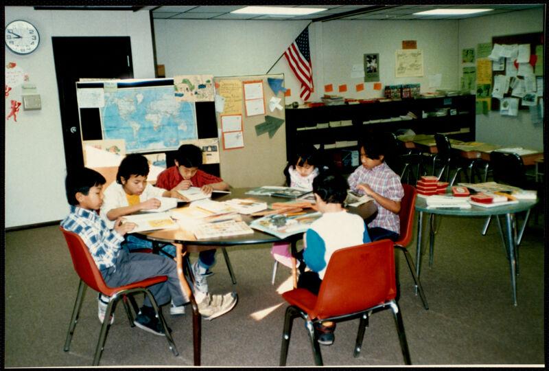 Classroom, students