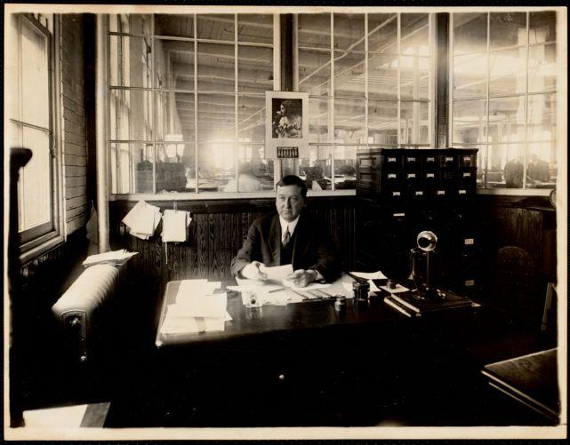 Engraving room. William Whitehead, overseer