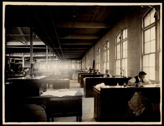 Engraving room, sketch-makers. Office building, 3rd. floor