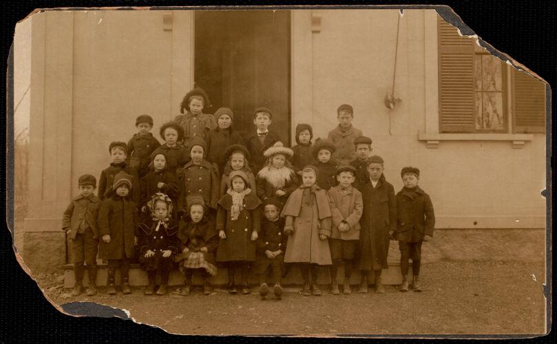 Adams School, about 1899. Miss Mathewson - teacher