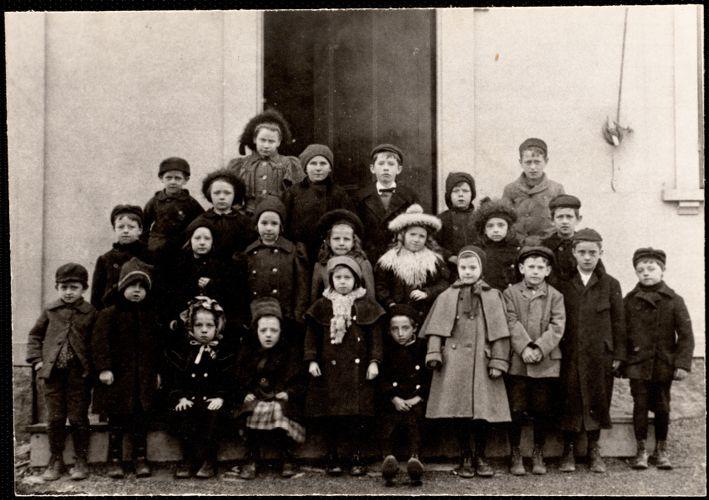 Adams School, about 1899. Miss Mathewson, teacher