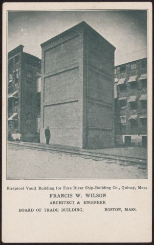 Fireproof vault building for Fore River Ship-Building Co., Quincy, Mass.