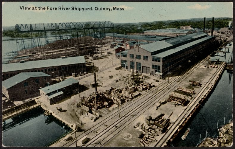 View at the Fore River Shipyard, Quincy, Mass.