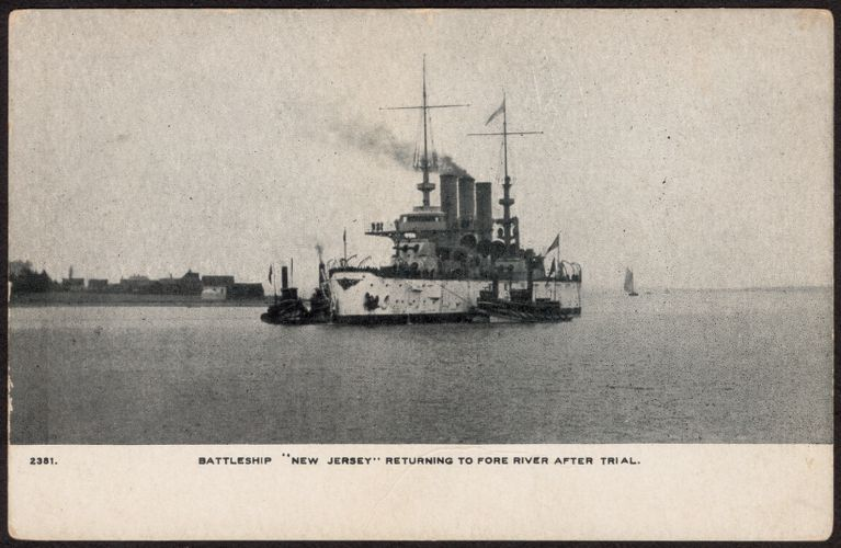 "Battleship ""New Jersey"" returning to Fore River after trial"