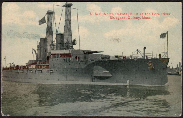 U.S.S. North Dakota, built at the Fore River Shipyard, Quincy, Mass.