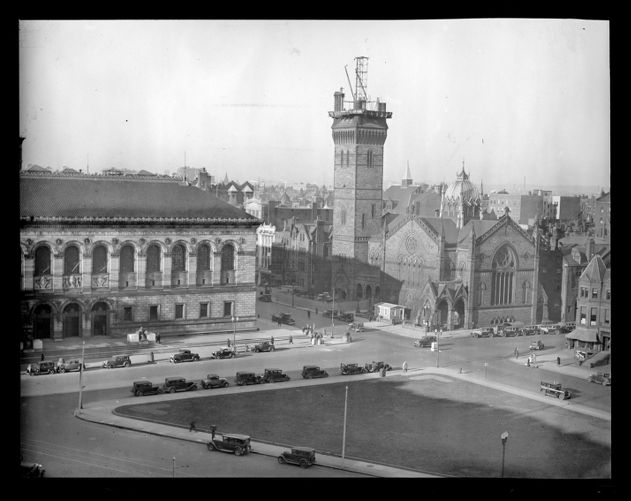 New Old South Church, Copley Square, Boston. Tearing it down as it is unsafe