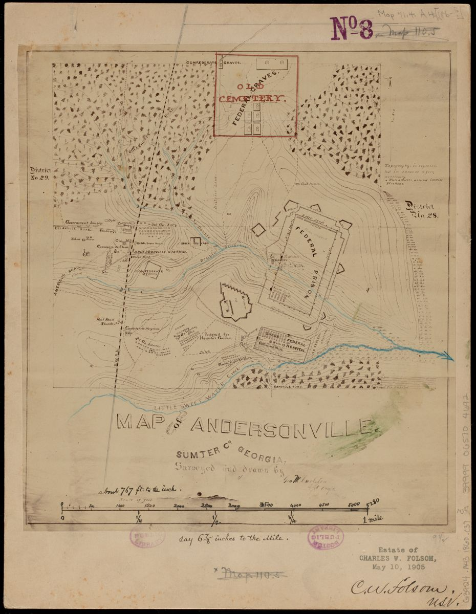 The Carleton map of Andersonville in the LMEC Digital Collections