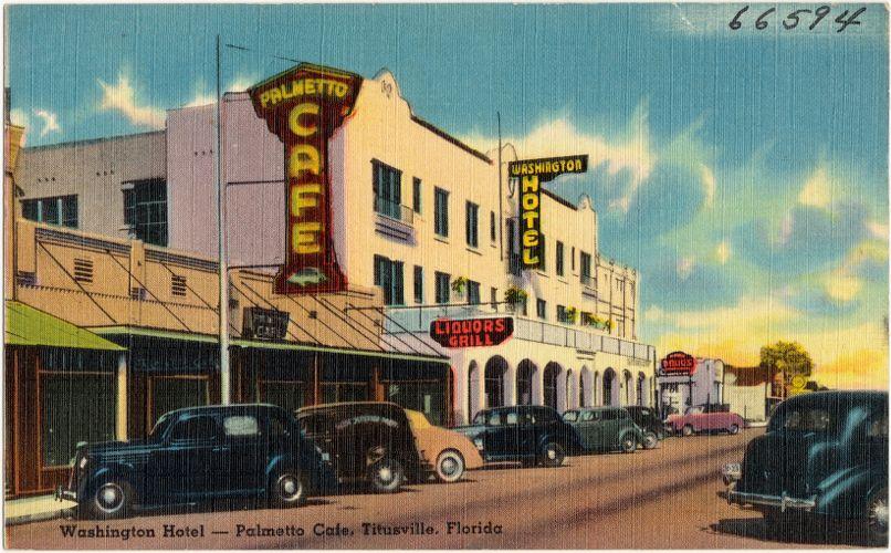 Washington Hotel- Palmetto Café, Titusville, Florida