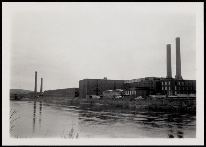 Pacific Print Works (so. side) as seen from Merrimack River